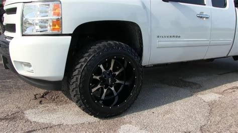 Leveled 2010 Chevy Silverado 1500 w/ 20x12  44 Offset