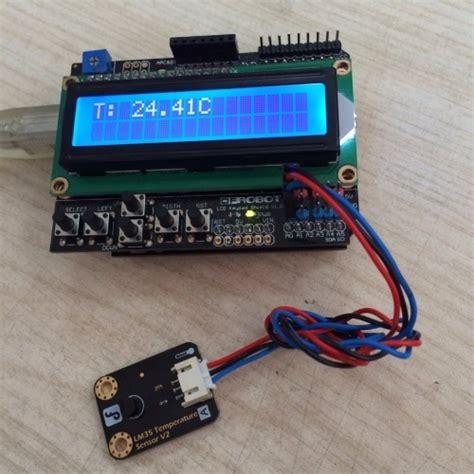 membuat robot sensor lcd keypad shield for arduino sku dfr0009 dfrobot