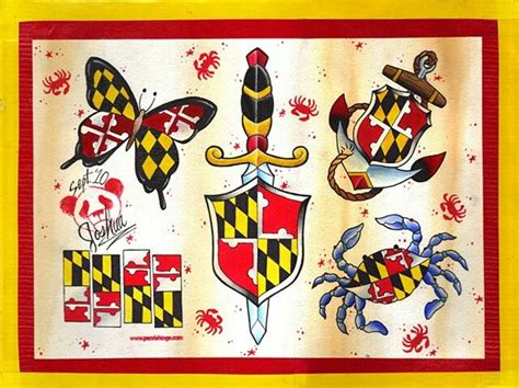 maryland flag tattoo designs 28 best maryland images on maryland
