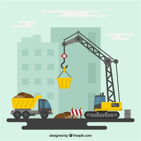 clipart site construction site vector free