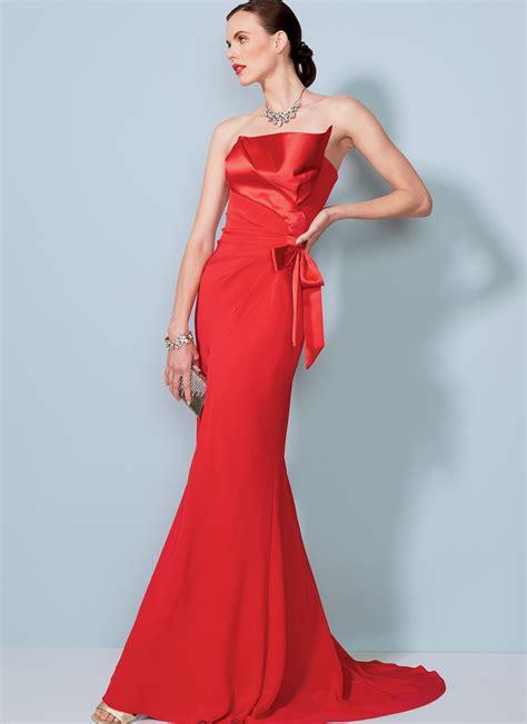 pattern review vogue 1360 vogue patterns 1533 misses strapless front drape dress