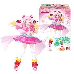 Pretty Cure Figure Set 3 hugtto precure cutie figure 1 set of 10 shokugan
