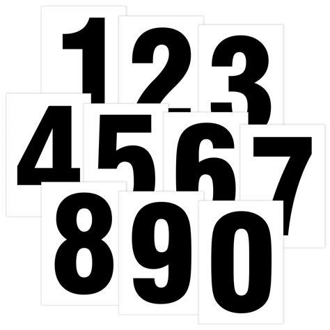 Pvc Aufkleber Wetterfest by Zahlen Schwarz Auf Wei 223 80 Mm Hoch Wetterfest Als