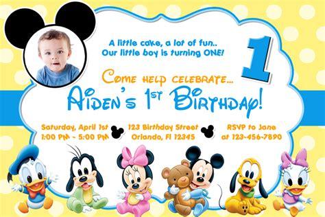 mickey mouse clubhouse st birthday invitations  invitation templates drevio