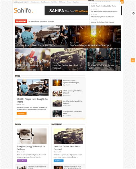 sahifa theme color 20 best wordpress news themes of 2017 goodwpthemes