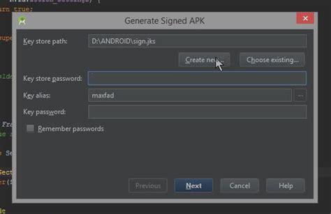 android sign apk создание подписанного приложения для android generate signed apk