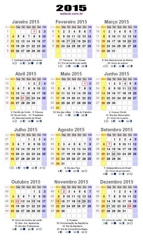 Calendario De Feriados 2015 Calend 225 2015 Em Png Pronto Para Voc 234 Utilizar Webcid