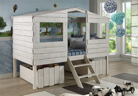kids house bed twin tree house loft bed for kids 187 petagadget