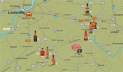 map kentucky bourbon trail kentucky bourbon trail brews and beverages