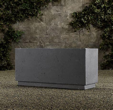 Cement Planter Box by Concrete Box Planter Garden Ideas