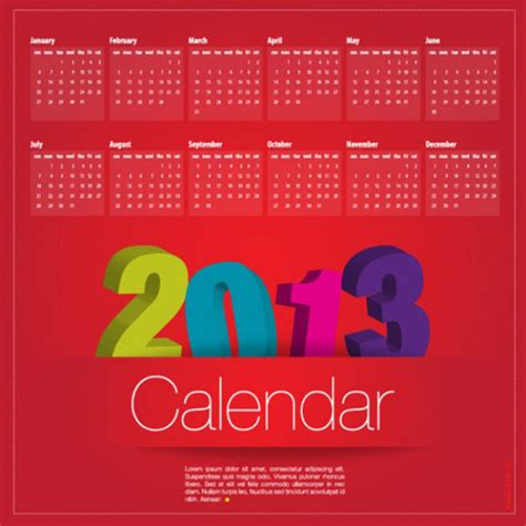 calendar design for new year new year 2013 calander templates 40 free and premium