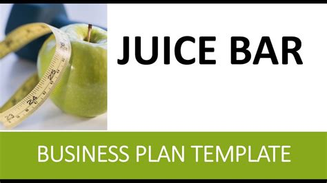 Juice Bar Business Plan Healthy Cold Pressed Etc Template Youtube Juice Bar Business Plan Template Free