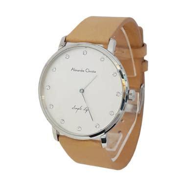 Jam Tangan Wanita Alexandre Cristie Ac6473 Original Soft Gold jam tangan alexandre christie kulit untuk wanita jualan jam tangan wanita