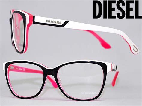 Pink And Black Glasses woodnet glasses frame diesel black x white x fluorescent