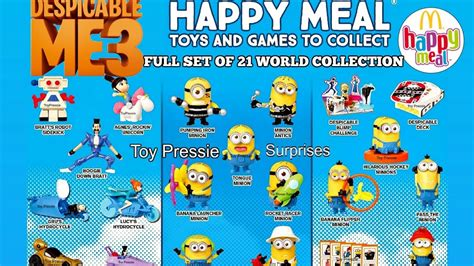 Happy Meal Despicable Me3 2017 mcdonalds despicable me 3 happy meal toys set of 21 minions world sneak peek