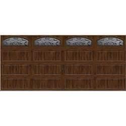 6 Foot Overhead Door Clopay Gallery Collection 16 Ft X 7 Ft 6 5 R Value Insulated Ultra Grain Walnut Garage Door