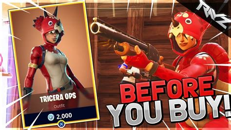 which fortnite skin should i buy before you buy the new quot tricera ops quot skin should you buy