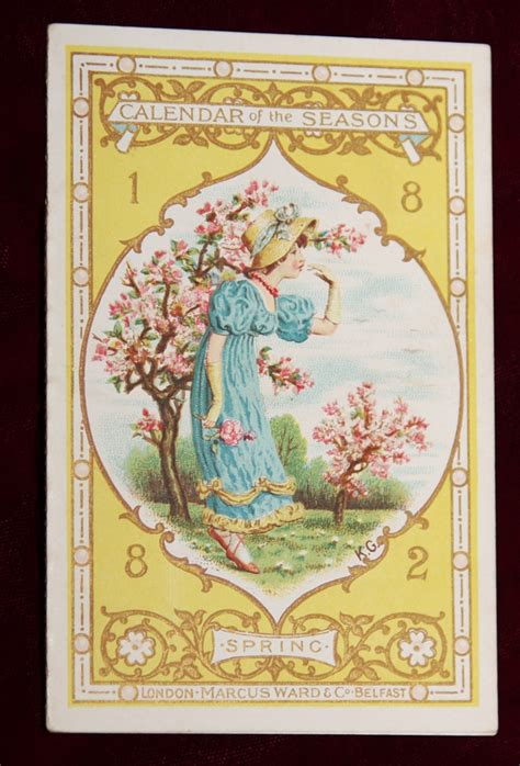 green bay illustrated classic reprint books exrare kate greenaway 1882 1st calendar of seasons amazing