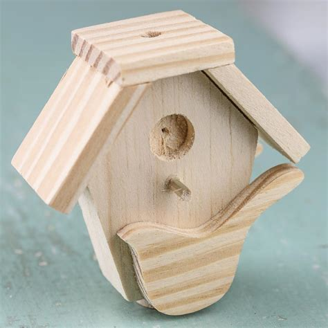 woodwork craft supplies small unfinished wood birdhouse wood miniatures