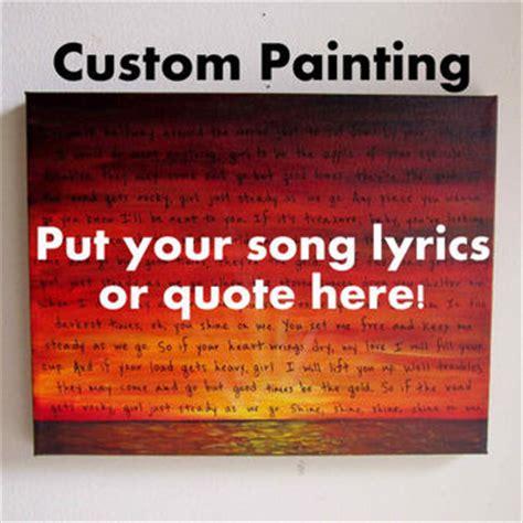 painter lyrics best custom song lyrics on canvas products on wanelo