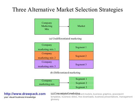 Mba School Selection Strategy by Alternative Market Selection Strategies Business Diagram
