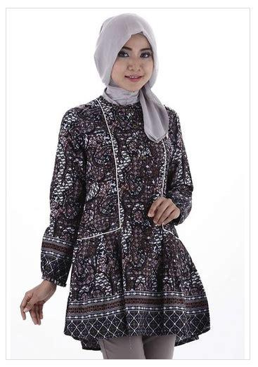 Baju Muslim Batik Gaul Trend Model Baju Batik Muslim Atasan Wanita 2016