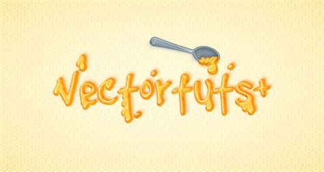 vector tutorial text how to create a detailed honey text effect in adobe