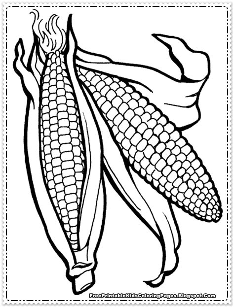 corn cob coloring page az coloring pages