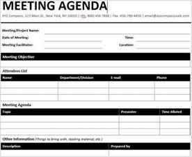 meetings template 15 best meeting agenda templates for word