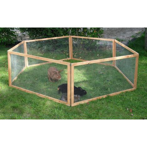 gabbie esterne per conigli recinto legno e metallo 6 pannelli 120 x 60