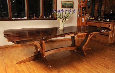 walnut slab  white oak dining table finewoodworking