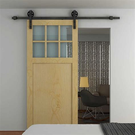 Sliding Barn Door Kits Homcom Sliding Barn Door Kit Carbon Steel Aosom Co Uk
