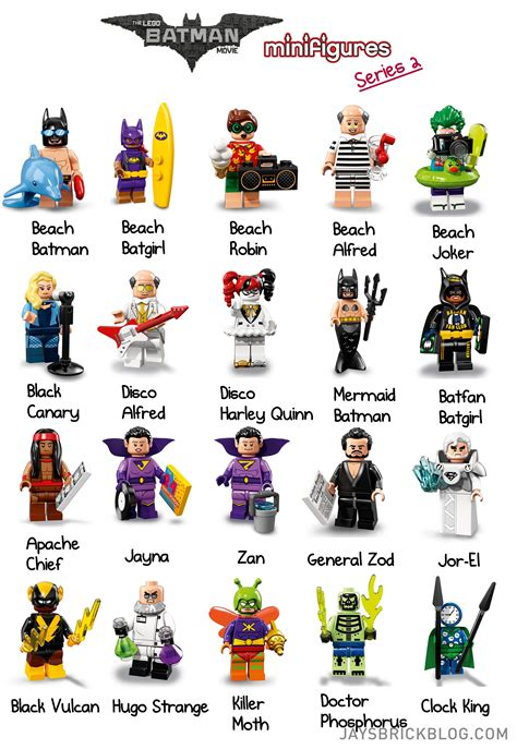 Figure Seri 2 check out the characters from lego batman