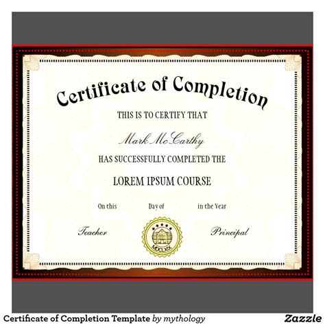 Blank Certificates Of Completion Mughals Certificate Of Completion Template Free