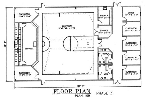 metal church building floor plans church plan 109 lth steel structures
