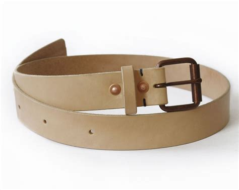 Handmade Belts - mens handmade veg leather belt basader