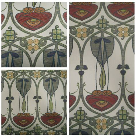 mackintosh fabrics curtain voyage decoration belle epoque rennie mackintosh designer curtain fabric large ebay