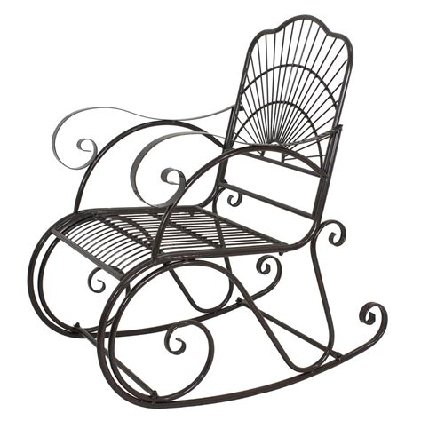 Patio Rocking Chairs Metal Patio Metal Rocking Chair Porch Seat Deck Outdoor Backyard Glider Rocker Iron Ebay