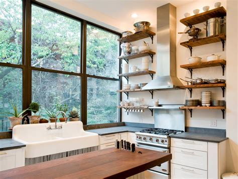 19 Rustic Wall Shelves Living Room Designs Designtrends Open Shelf Kitchen Design