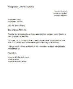 accept resignation letter resignation letter format best ideas resignation