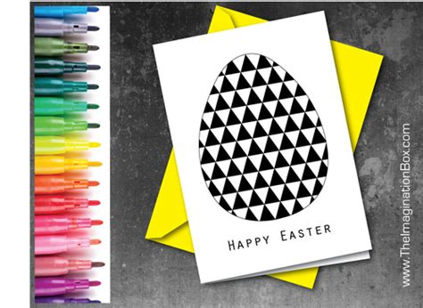 Easter Card Template Tes by Make Your Own Modern Geometric Easter Egg Card Template By