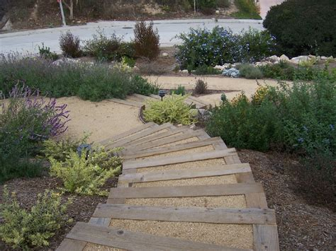 landscaping stairs the 2 minute gardener photo landscape timber stairs