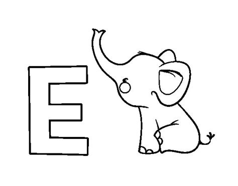 imagenes para colorear elefante dibujo de e de elefante para colorear dibujos net