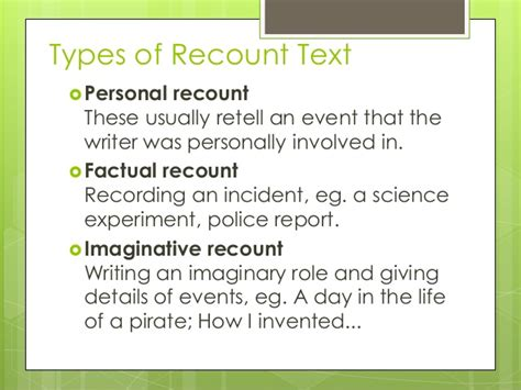 short biography recount text recount text
