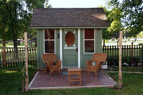 sheds and playhouses tiny green cabins a tiny green cabin shed micro office relaxshax s blog