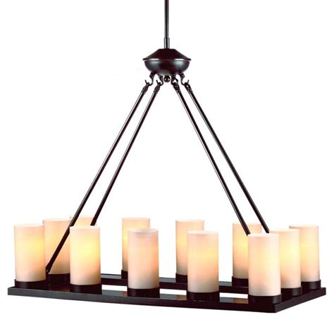 Rustic Chic Rectangular Tray Chandelier 12 Lights Rustic Rectangular Chandelier