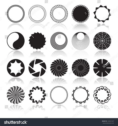 pattern design element abstract circular design elements vector illustration