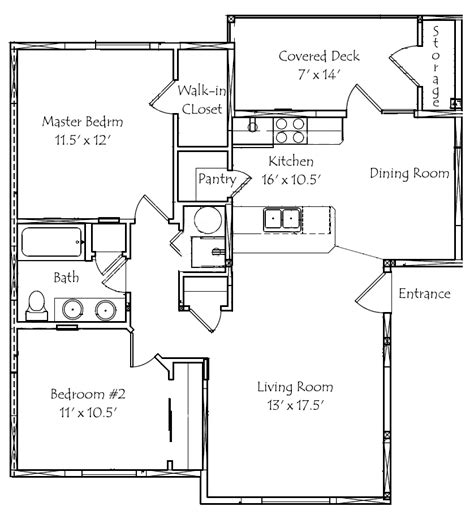 2 bedroom 2 bath floor plans 2 bed 1 bath house plans escortsea
