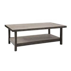 Rustic Industrial Coffee Table Ink Concrete Metal Rustic Industrial Coffee Table