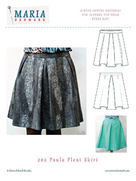 202 paula pleat skirt pattern mariadenmark sewing
